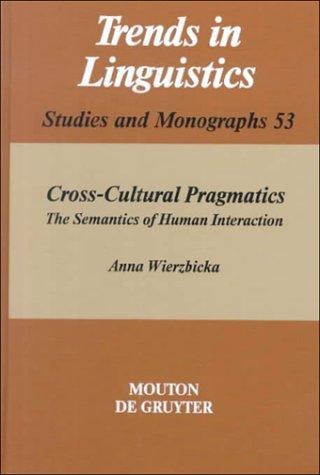 cross-cultural pragmatics - wierzbicka