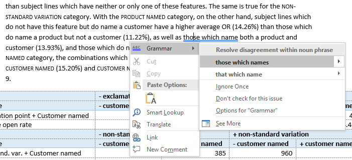 MS Word - those which names