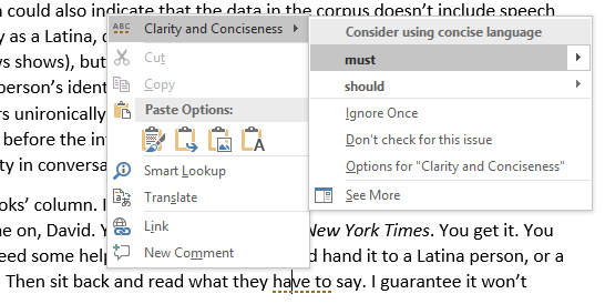 MS Word - what they have to say